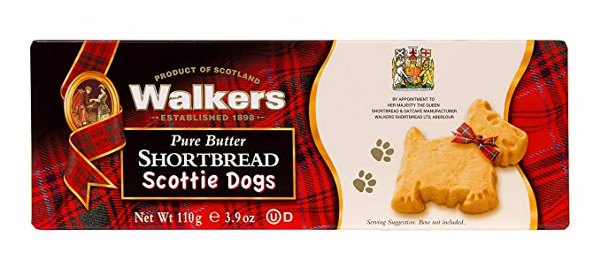 Walkers Shortbread Scottie Dogs Postre - 6 Paquetes de 1 x 110 gr - Total: