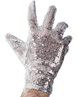 Sequin Glove - Silver Sequin Glove - Costume Gloves - Costume Accessories by Funny Party Hats