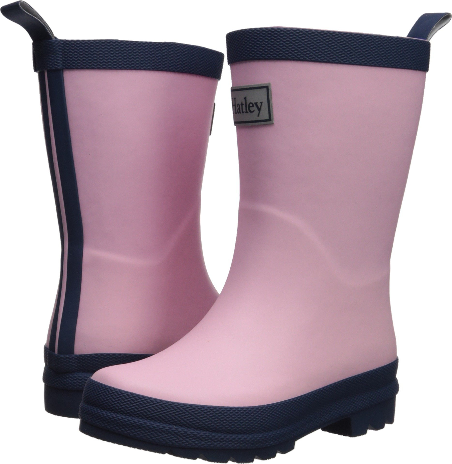 Hatley Classic Rain Boots, Pink and Navy, 10 M US Little Kid