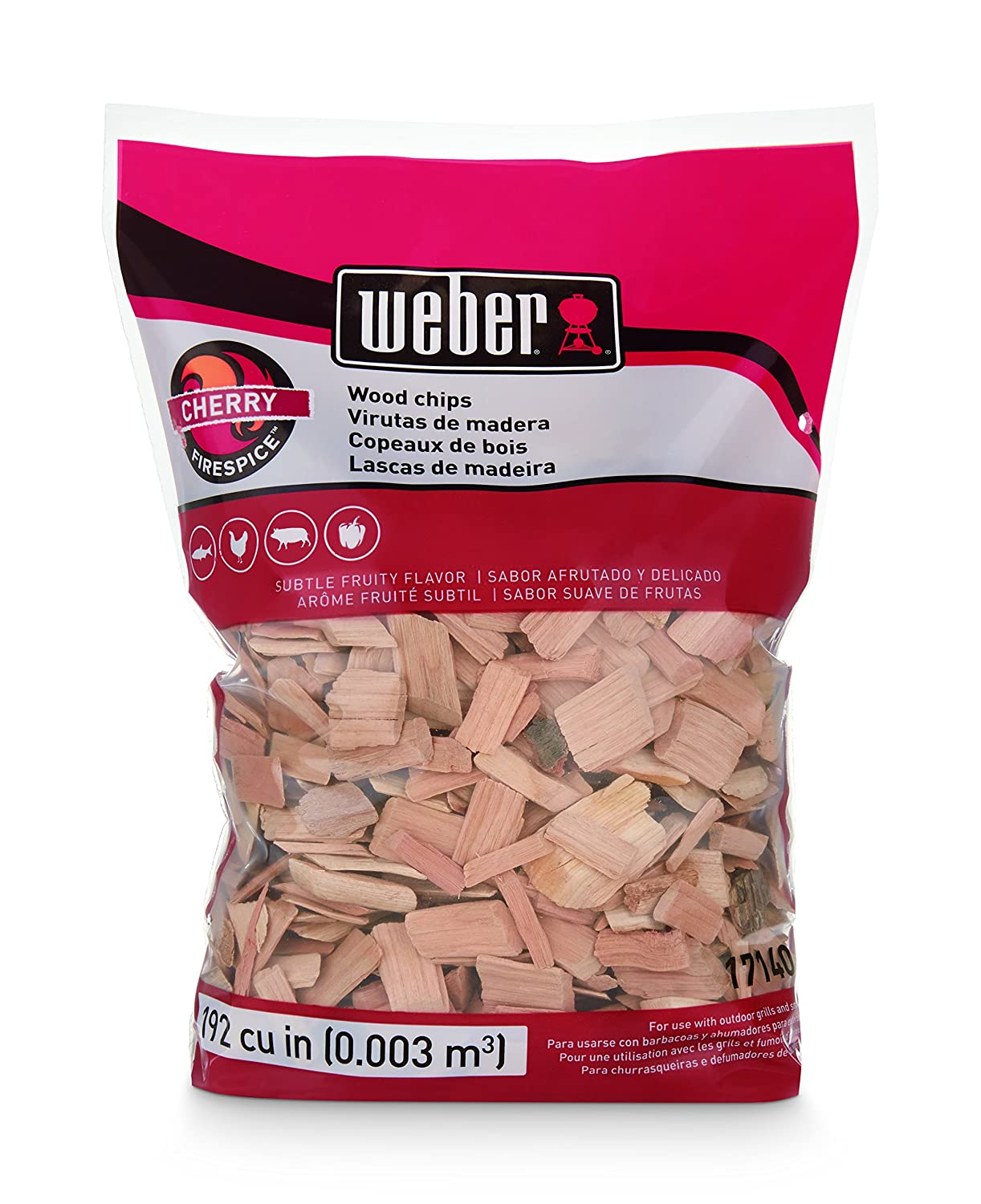 Weber-Stephen Products 17140 Cherry Wood Chips, 2 Lb.