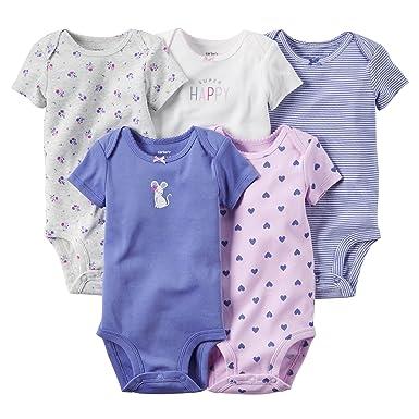 5ee5a97eb Amazon.com: Carters Infant 5PK Bodysuit Multi Newborn: Clothing