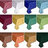Damast YSN622 Tischdecke, Lotuseffekt - 130x320 cm eckig - weiß