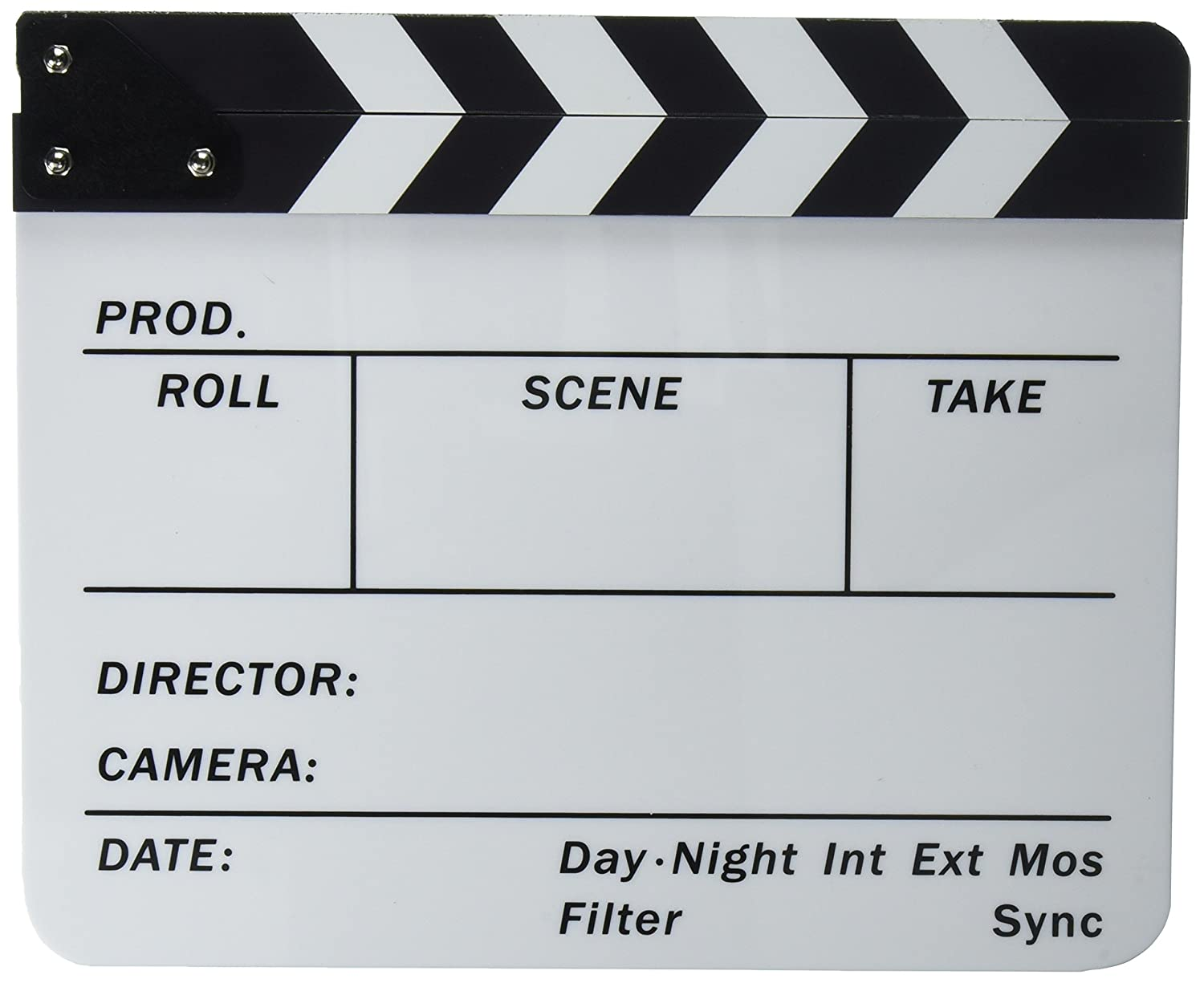 Neewer Professional Wooden Film Movie Clapboard, 7.9 X 7.9 inches/20 X 20 Centimeters Black & White Director Film Slateboard Clapper Board Movie Scene Production Decoration Prop 10093845