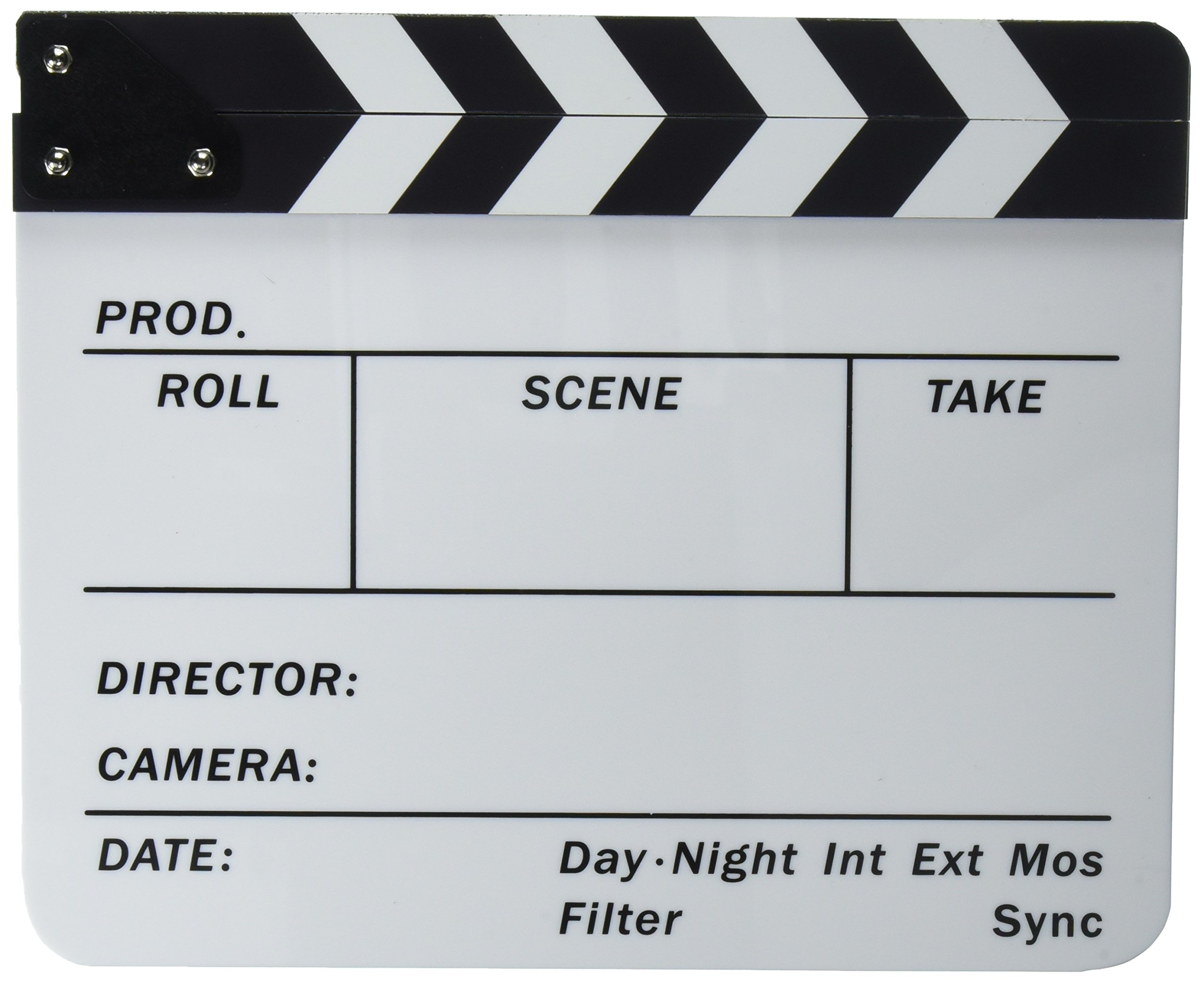 Neewer Acrylic Plastic 10x12''/25x30cm Dry Erase Director's Film Clapboard Cut Action Scene Clapper Board Slate with White/Black Sticks by Neewer