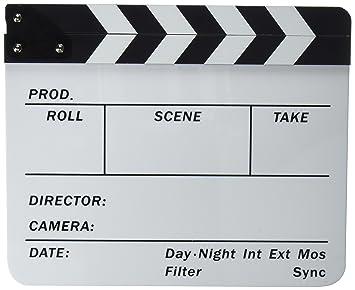 Neewer® acrílico plástico 10x12 /25x30cm tablilla de película Director Cine, borrado en seco, Chapaleta Junta Pizarra de parar Acción Escena con ...
