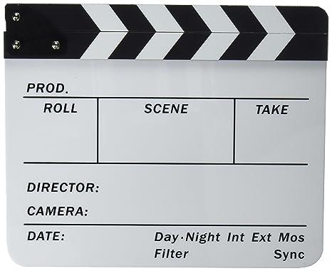 Neewer® acrílico plástico 10x12 /25x30cm tablilla de película Director Cine, borrado en seco