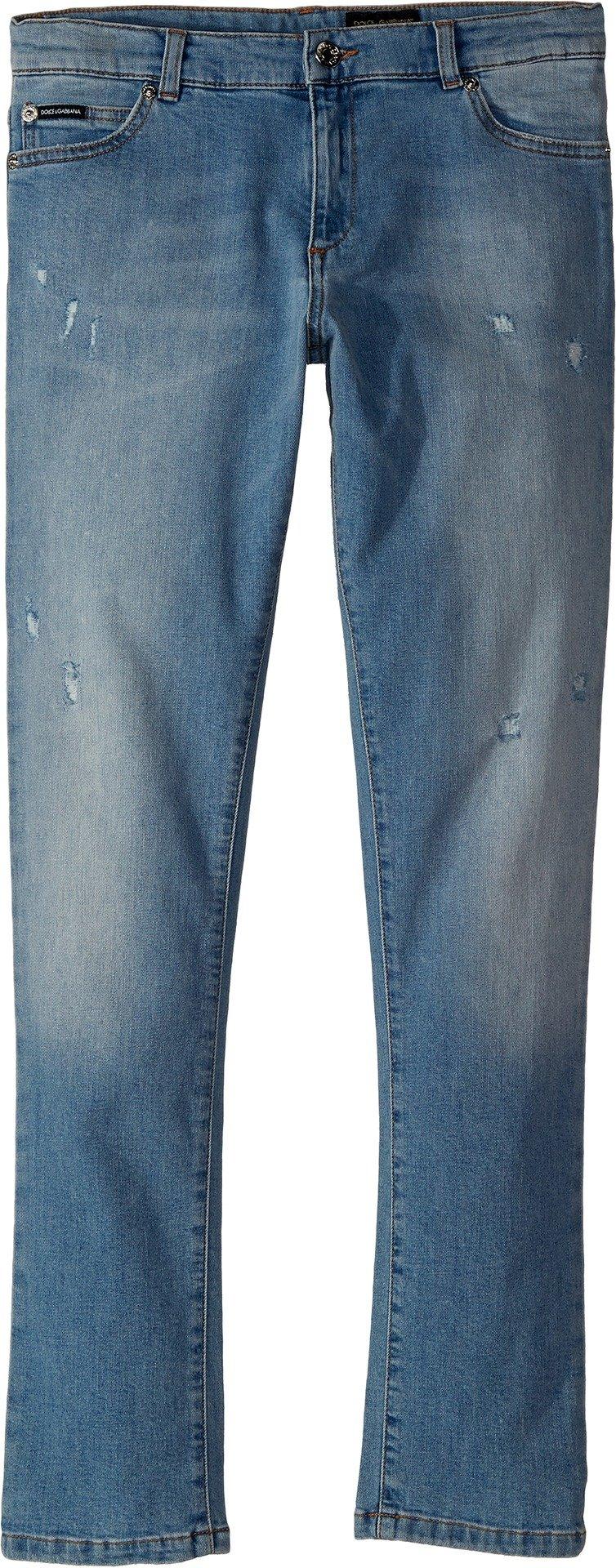 Dolce & Gabbana Kids Boy's Five-Pocket Trousers (Big Kids) Dark Blue 12