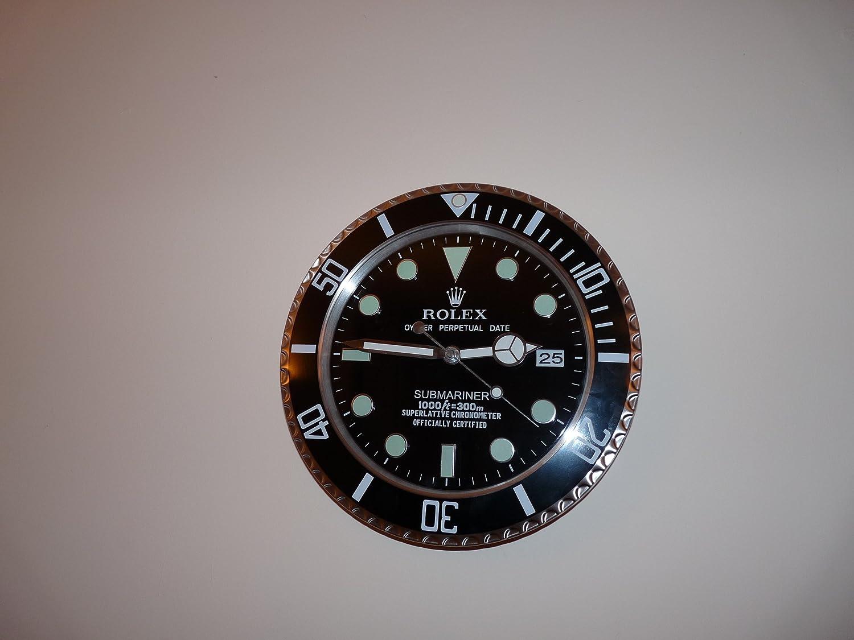 Rolex submariner clock stainless steel jewelers display clock rolex submariner clock stainless steel jewelers display clock promotional not for general sale amazon kitchen home amipublicfo Gallery