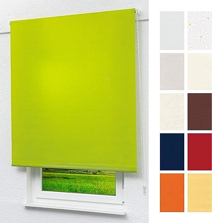 Lysel Outlet Basisrollo Tageslicht Gelbgrün