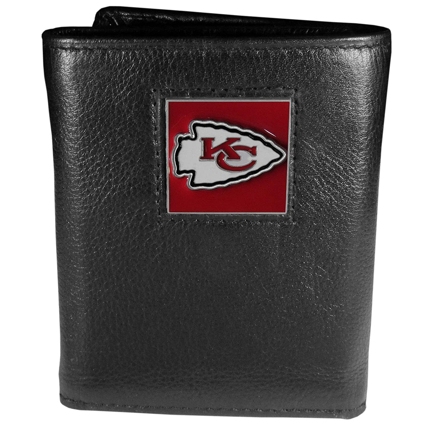 Siskiyou NFL Unisex Embossed Leather Tri-fold Wallet