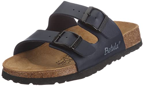 a0fe2b12e Betula Slippers Boogie from Birko-Flor in Dark Blue with a Narrow Insole  Size 39.0