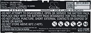 4300mAh Replacement for DELL T06G, Venue 11 Pro 5130 Battery, P/N 9MGCD, XMFY3