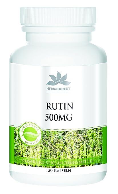 Rutina 500mg – extracto natural de Sophora Japonica – 120 cápsulas – vegetariano – 72g