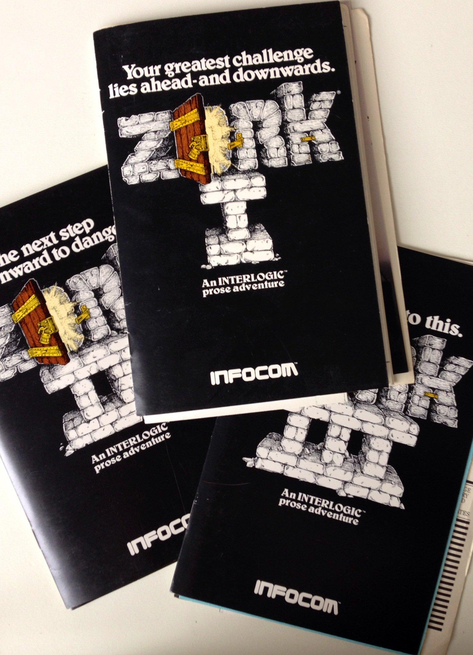 Zork I, II, III Atari/Infocom Game Materials: Infocom