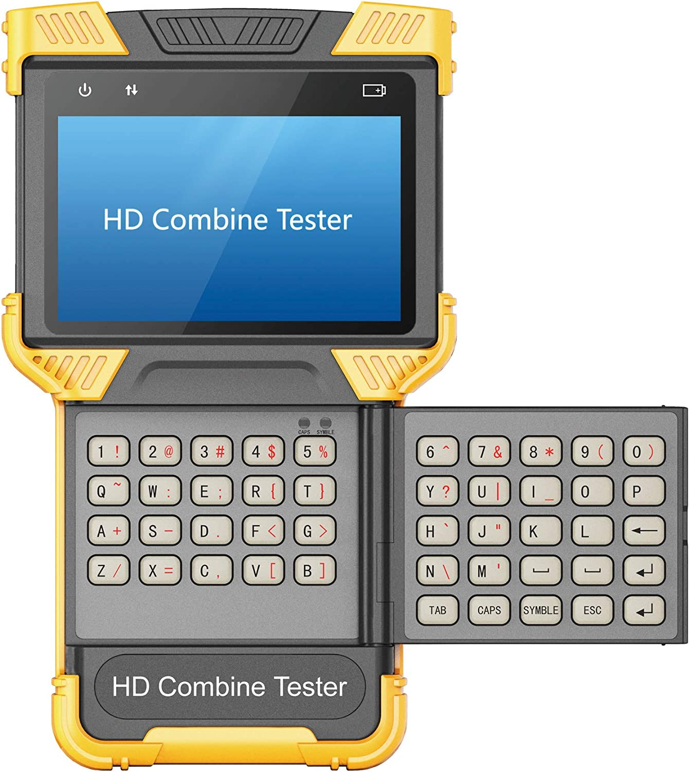 """5 in 1 CCTV Tester Support Upt to 4K IP Camera & Up to 8 Megapixel AHD, TVI, CVI & CVBS Analog Camera, Security Video Monitor with 4"""" Screen, Keypad, POE Out, WiFi Test, Onvif, PTZ"""