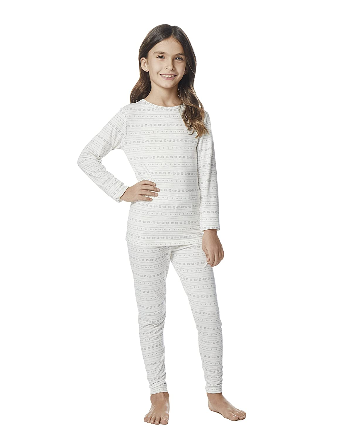 32 Degrees Weatherproof Big Girl's Base Layer Thermal Shirt Long Underwear Set 32Degree_Girl_Small-P
