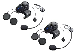 Sena SMH10D-11 Motorcycle Bluetooth Headset / Intercom with Universal Microphone Kit (Dual)