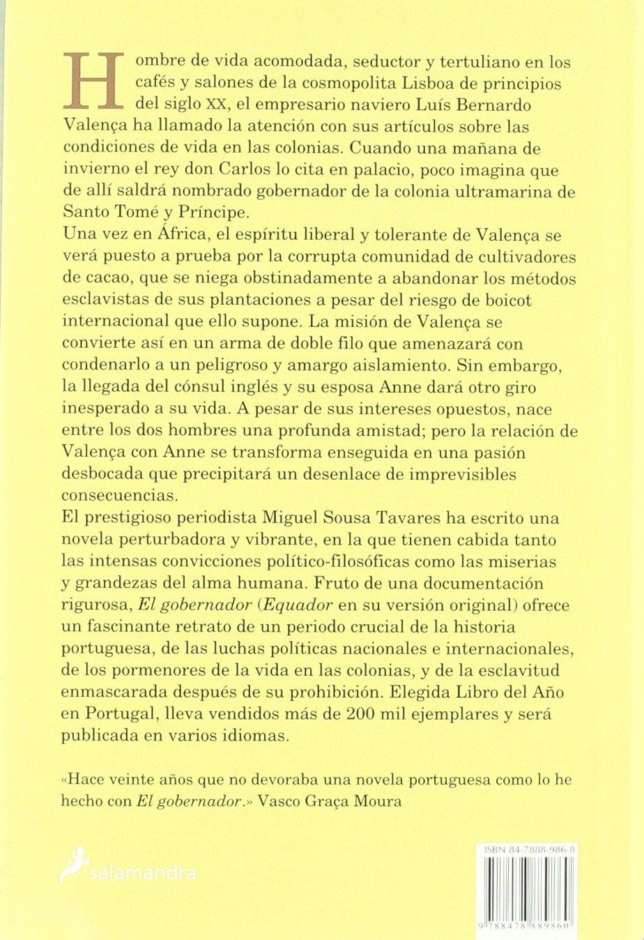 El gobernador (Novela Histórica): Amazon.es: Miguel Sousa Tavares: Libros