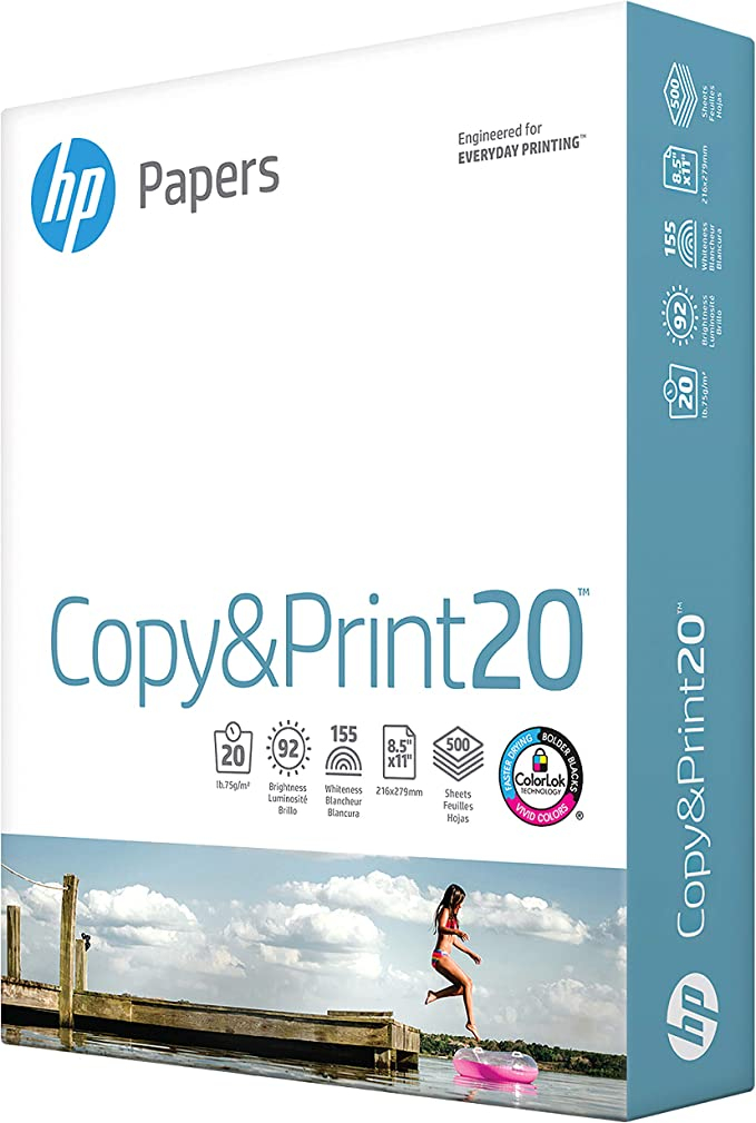 Made In The USA 172160 8.5 x 11 92 Bright 2500 sheets // 5 Ream Case 20lb Letter Office Ultra White Poly Wrap HP Paper