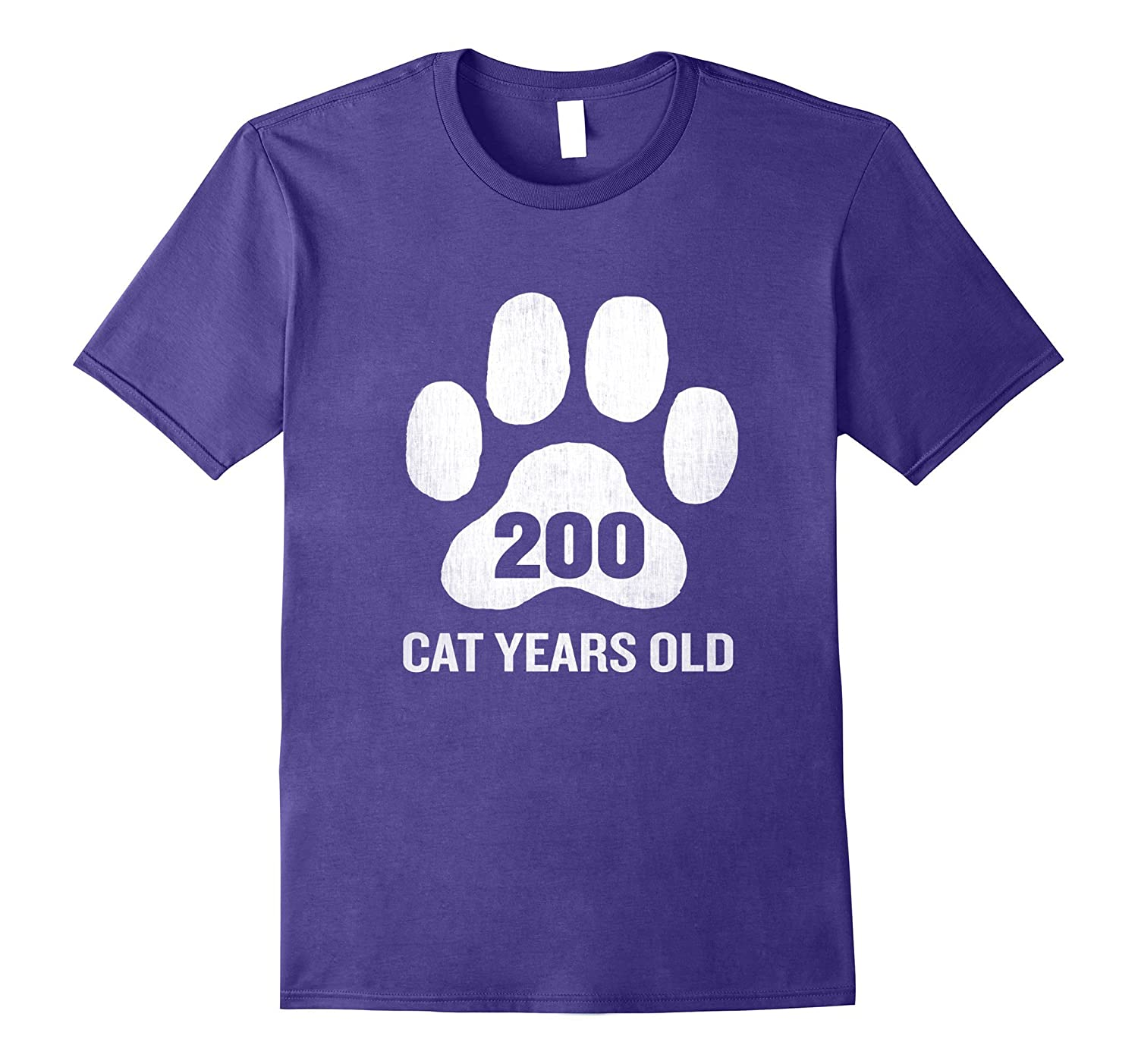 200 Cat Years Old T-Shirt Funny 50th Birthday Gag Gift Paw