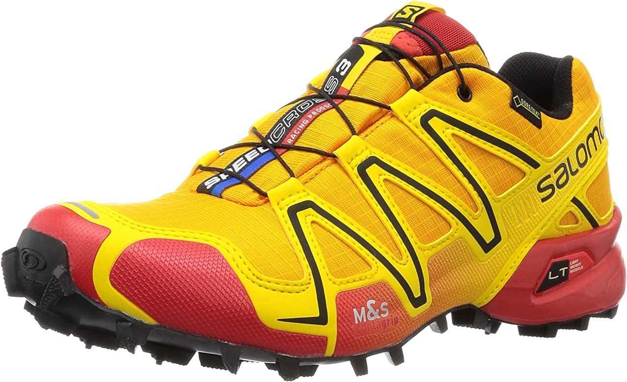 Salomon Speedcross 3 GTX, Zapatillas de Trail Running para Hombre, Amarillo (Yellow Gold/Radiant Red/Black), 45 1/3 EU: Amazon.es: Zapatos y complementos