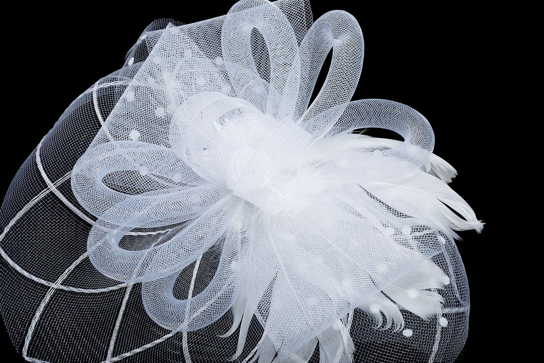 Fascinator Hat Mesh Flower Headwear – AWAYTR Tea Party Hats for Woman Mesh Derby Church Cap by AWAYTR (Image #4)
