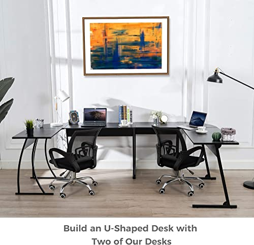 CHADIOR L Shaped Corner Computer Gaming Desk 58″L x 44″W Modern Workstation Table