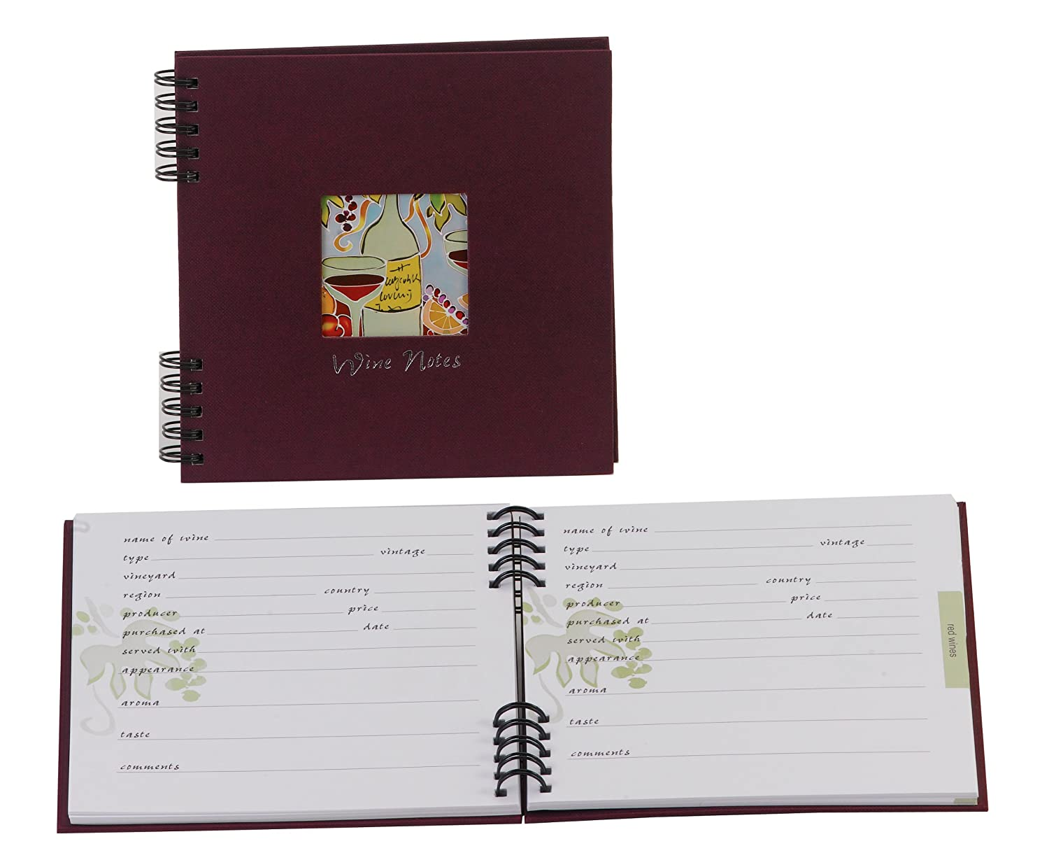 Amazon.com: Meadowsweet Kitchens Compact Wine Tasting Diary: Wine Education  Products: Kitchen U0026 Dining