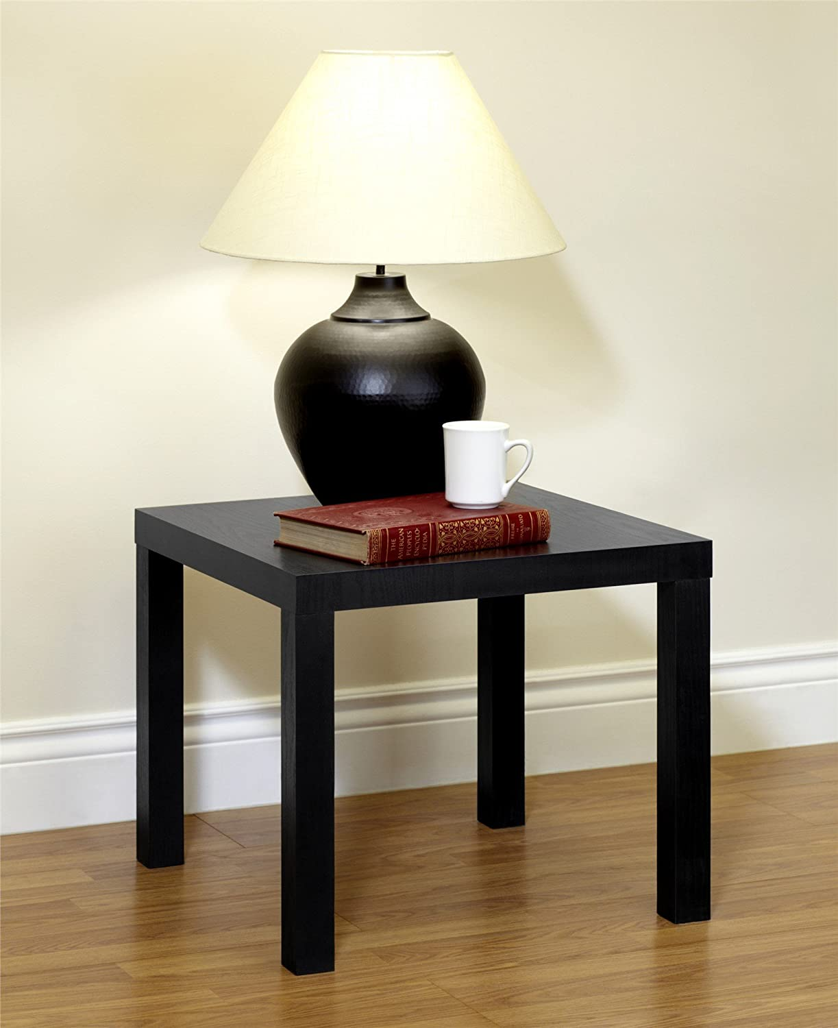 Ultra modern end tables - Amazon Com Dhp Parsons Modern End Table Black Wood Grain Kitchen Dining