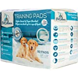 Puppy Training Pads for Dog Pet Pee Large (50 Pack) |Puppies House Train Piddle|Wee Wee Attractant Scent|Absorbs 200% More Liquid|Anti Slip & Leakproof|60cm x 60cm