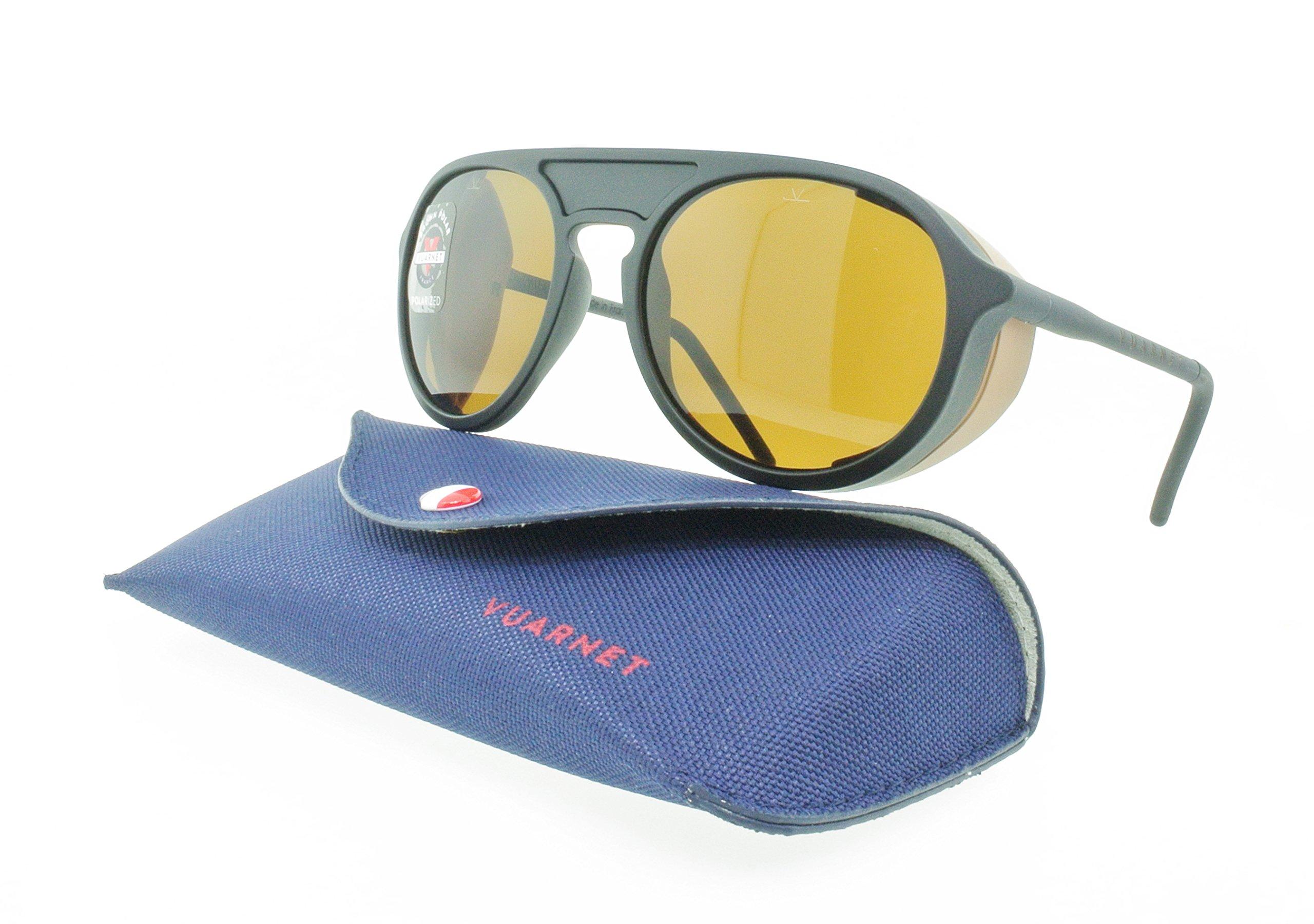Brand New Authentic Vuarnet Aviator Sunglasses 1709 0002 2622 Black / Brown Polarized