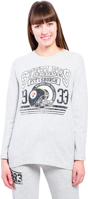 Ultra Game NFL Womens Super Soft Sleepwear Lounge Shirt