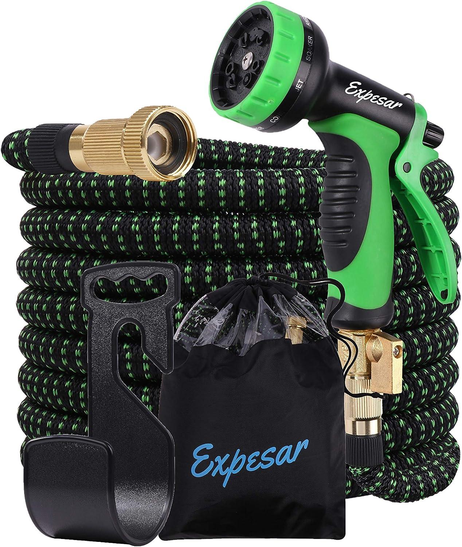 Garden Hose (Green) 50ft Water Hose Expandable Flexible Super Lightweight