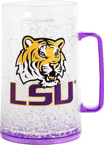 NCAA Louisiana State Tigers 16oz Crystal Freezer Pilsner