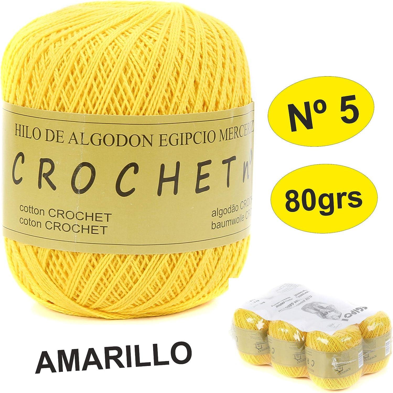 Amigurimi y otras labores Torrijo PERLE XXL 5 Hilo de 100/% Algod/ón perl/é mercerizado para Ganchillo 6 unidades *80grs