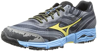 size 40 39a12 64243 Mizuno Women s Wave Kazan Trail Running Shoe,Gunmetal Yellow Cream,7.5 ...