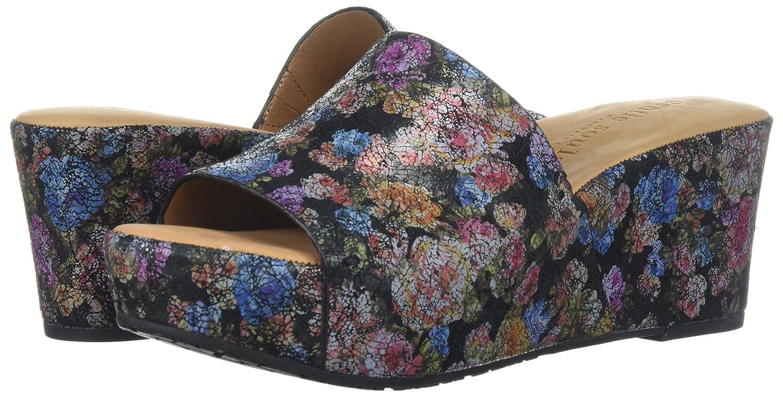 Gentle Slip Souls Women's Forella Platform Slip Gentle Slide Sandal B074CKR8HK 8 M US|Black/Flower 922cc4