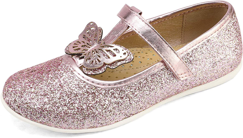 DREAM PAIRS Girls Dress Shoes T-Strap Ballerina Flats