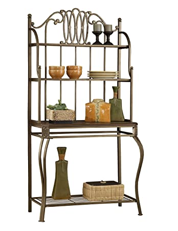 Hillsdale Furniture 41548H Montello Baker s Rack Old Steel