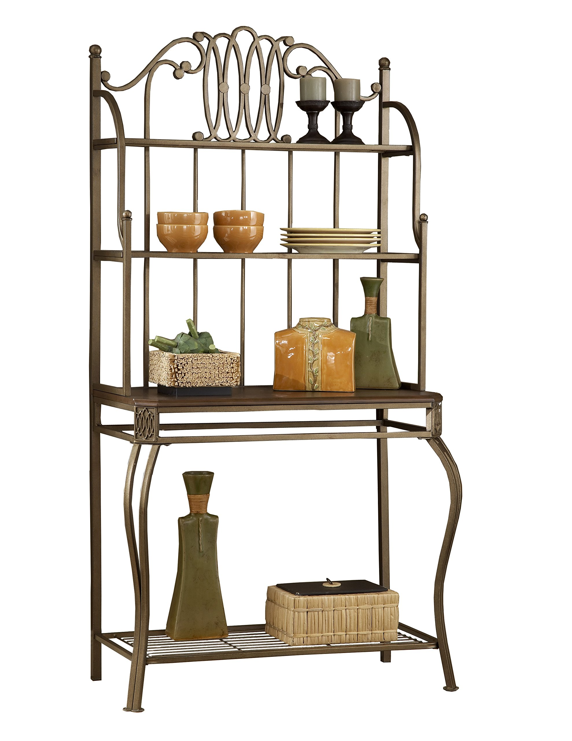 Hillsdale Furniture 41548H Montello Baker's Rack, Old Steel