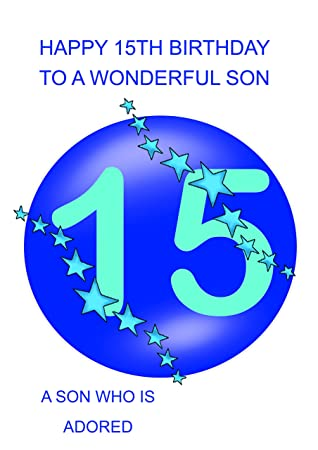 Son 15 Birthday Card Amazon Office Products