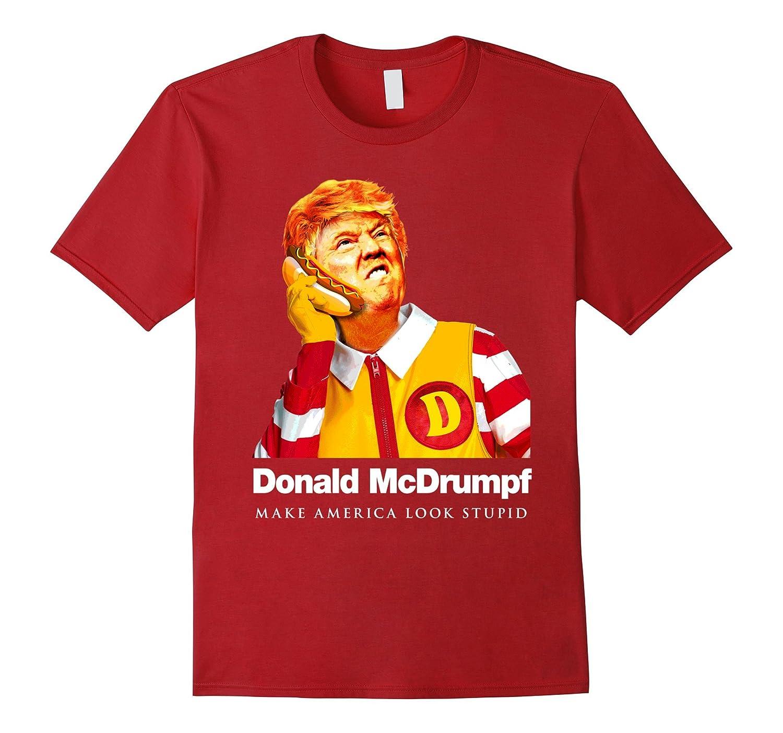 donald mcdrumpf anti trump make america look stupid t shirt td teedep. Black Bedroom Furniture Sets. Home Design Ideas