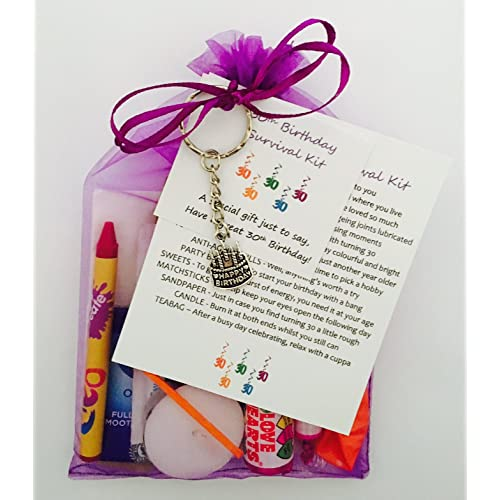 30th Birthday Survival Gift Kit Fun Happy Present For Him Her Choose