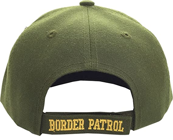Amazon.com: Green US Border Patrol Embroidered Hat USA Ball Cap: Sports & Outdoors