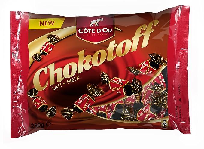 Chokotoff Costa dor- toffees cubierto con delicioso chocolate con leche belga - Bolsa de 8