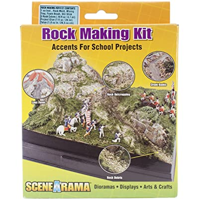 Woodland Scenics Scene-A-Rama Rock Making Kit, Multicolor: Home & Kitchen