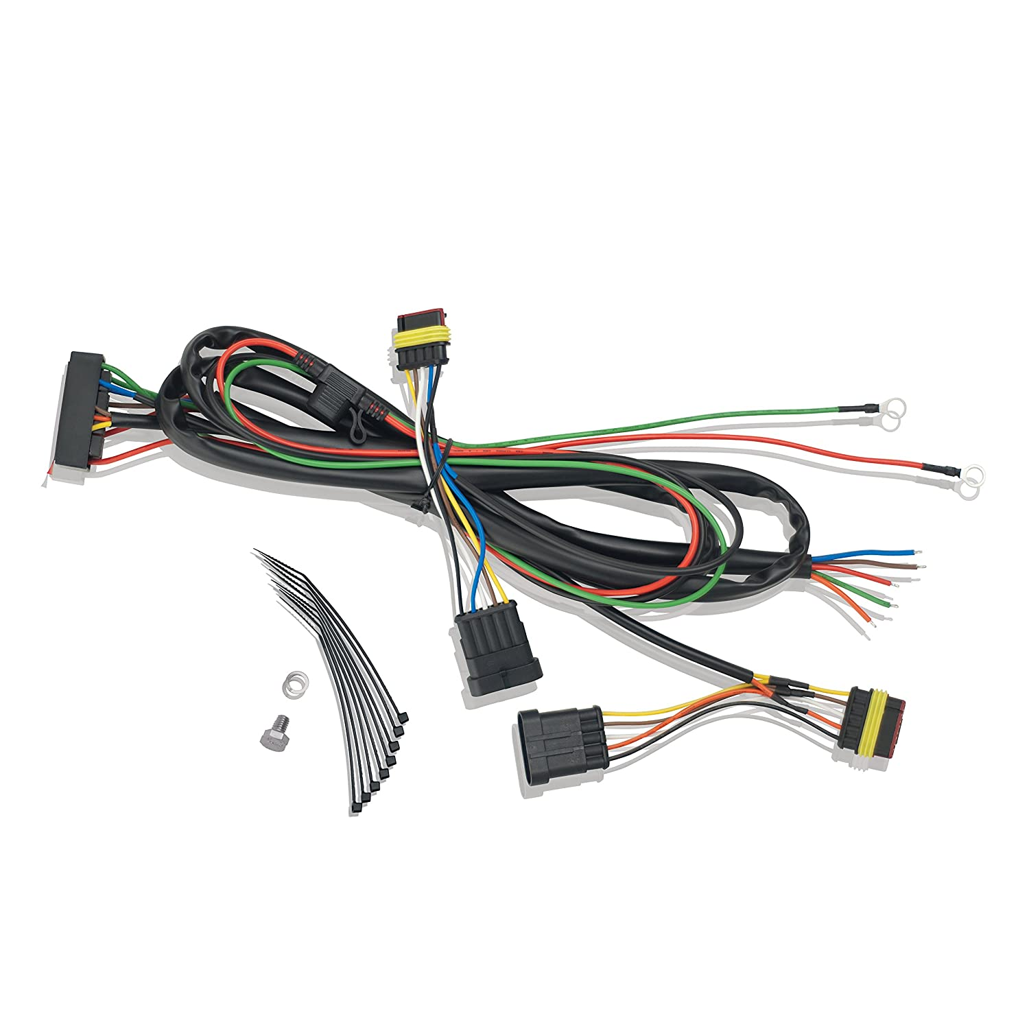 81dZHpG1lCL._SL1500_ amazon com show chrome accessories 41 162 trailer wire harness Wiring Harness Connectors at fashall.co