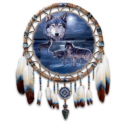 Daniel Smith Wolf Art Leather Dreamcatcher Wall Decor Guardians Of Unique Alaskan Dream Catcher