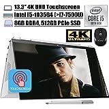 "2020 Newest HP Spectre x360 2 in 1 Laptop 13.3"" 4K UHD Touchscreen Intel Quad-Core i5-1035G4 (Beats i7-7500U) 8GB DDR4…"