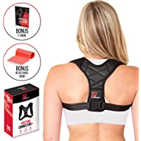 PRO PERFORMANCE+ Posture Corrector | Clavicle Support For Upper Back Neck & Shoulders | Corrects Posture | Fully Adjustable & Invisible for Women & Men | Bonus Resistance Band & E-Book